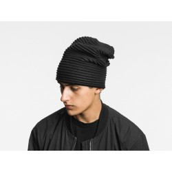 Pleated fleece beanie