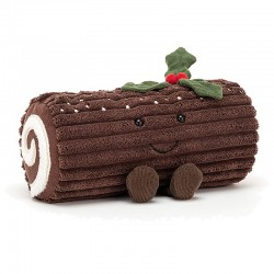 Stuffed Yule Log Toy